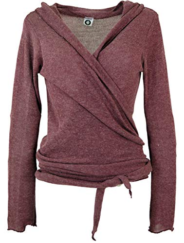 Guru-Shop Wickelshirt, Baumwollstrick Pullover, Damen, Altrosa, Viskose, Size:38, Pullover, Longsleeves & Sweatshirts Alternative Bekleidung - Damen Shop