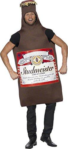 Imagen de smiffy's  disfraz de botella de cerveza studmeister para hombre, talla única 20391