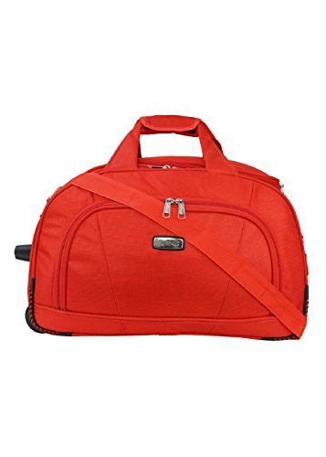 SuiDhaga Mattie Red 51 cm Duffle On Wheels Trolley With Three Main compartments