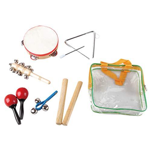 SUPVOX Conjunto Instrumentos Percusión Niños Pandereta