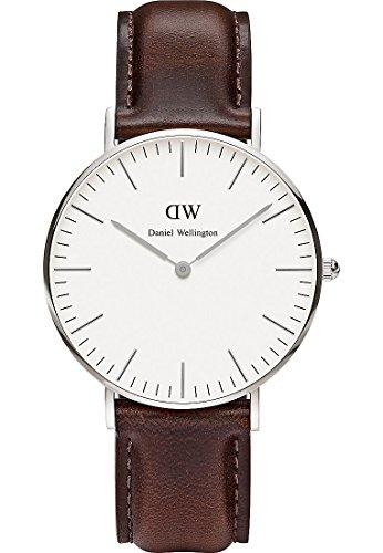 Daniel-Wellington-Damen-Armbanduhr-St-Andrews-Analog-Quarz-Leder-0607DW