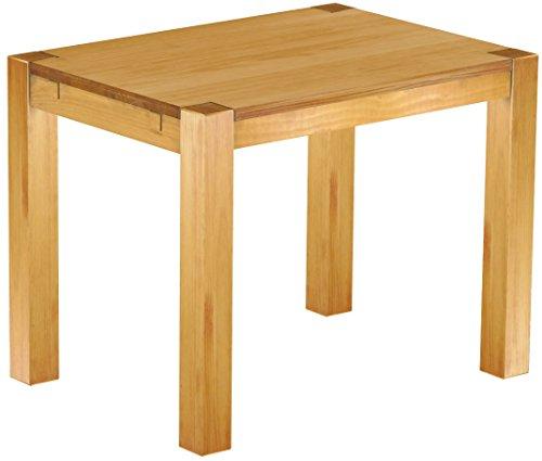 Massivholztisch 100 x 73 cm Massivholz in Honig hell modern - Esszimmermöbel Esszimmertisch Schreibtisch - vollmassive Platten - Plantagenholz