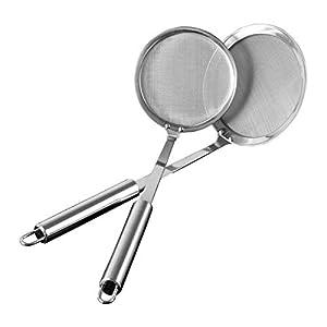 Schaumlöffel,AIEVE 2 Stück Edelstahl Löffel Filter Set Küche Werkzeug Zubehör
