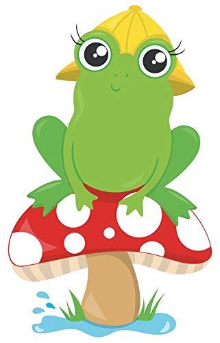 Samunshi® Lustiger Frosch mit Hut Aufkleber Sticker Autoaufkleber Scheibenaufkleber in 8 Größen (4x8cm Mehrfarbig) Hut Größen