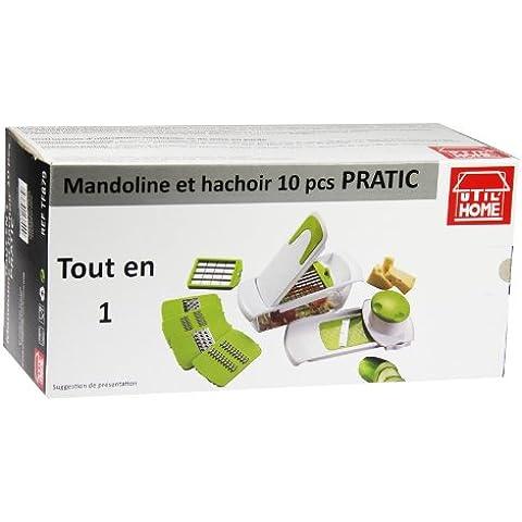 Utilhome 5040315 - Mandolina/grattugia, set da 10 pezzi, colore: Bianco