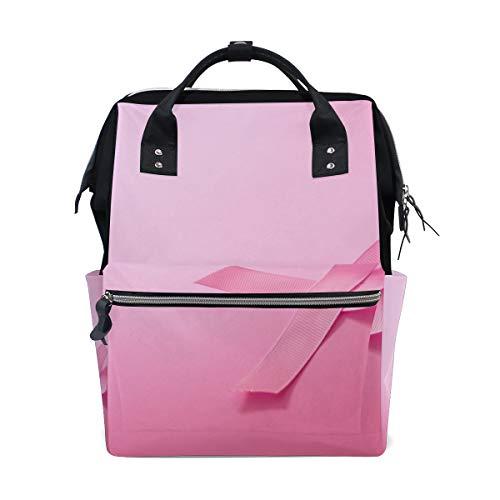Pink Ribbon Breast Cancer Awareness Wickeltaschen mit großer Kapazität Mumienrucksack Multifunktionen Wickeltasche Tote Handtasche Für Kinder Babypflege Reisen Täglich Frauen