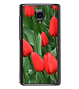 Red Tulips 2D Hard Polycarbonate Designer Back Case Cover for Xiaomi Redmi 1S :: Xiaomi Redmi 1