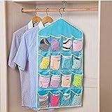 Gray : 16 Pockets Clear Over Door Hanging Bag Shoe Rack Hanger Storage Organizer Good