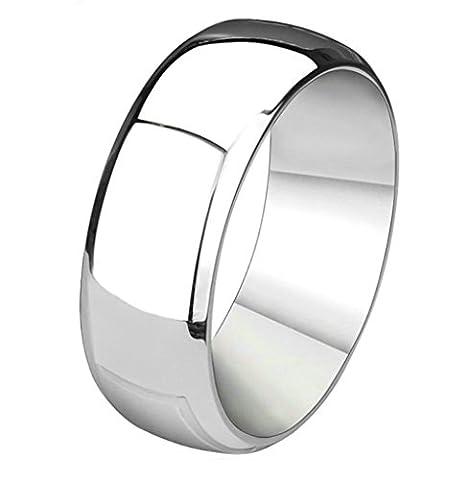 Epinki Acier Inoxydable Homme Engagement Mariage Bandes Anniversaire Cadeau Simple Bague Briller Argent Bague Taille 59