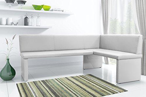 Eckbank Omega weiß 200 x 140 cm rechts
