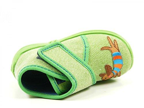 Rohde 2105 Kiddie Baby Schuhe Kinder Hausschuhe Jungen Mädchen Grün