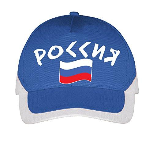 Supportershop Herren Russia Mütze, blau, M