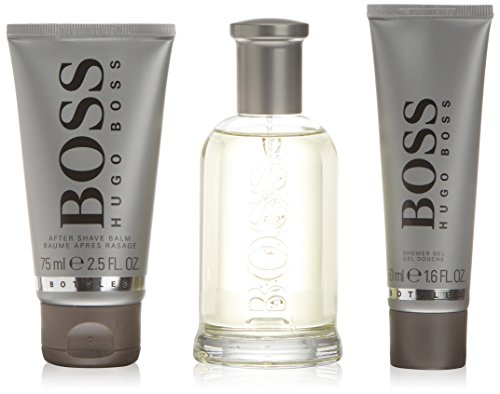 Hugo Boss After Shave Balsam (Hugo Boss Bottled Geschenkset für Ihn (EdT 100ml, Aftershave Balm 75ml + Duschgel 50ml))