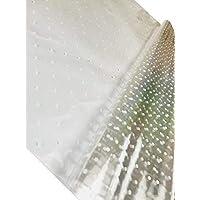 Preisvergleich für inerra 1 Meter x 80cm weißer Punkt Zellophan Film Umhang (gefaltet) - klar mit weißer gepunktet, Pack of 3