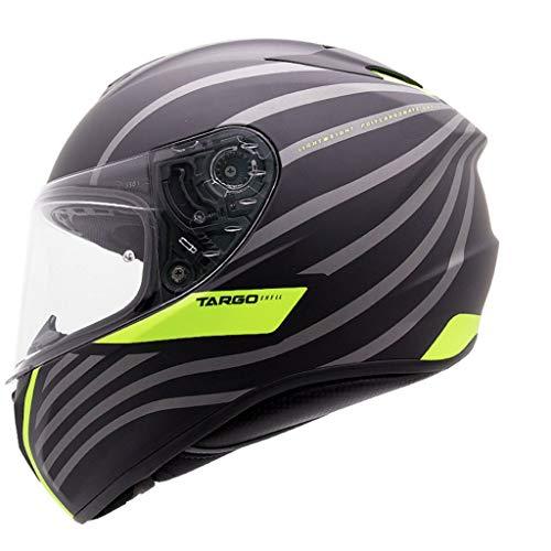 ZJJ Helm- Vollsichtiger Unisex-Helm, Regen- und UV-Schutzhelm, transparente Linse (Farbe : Gelb, größe : XXL)