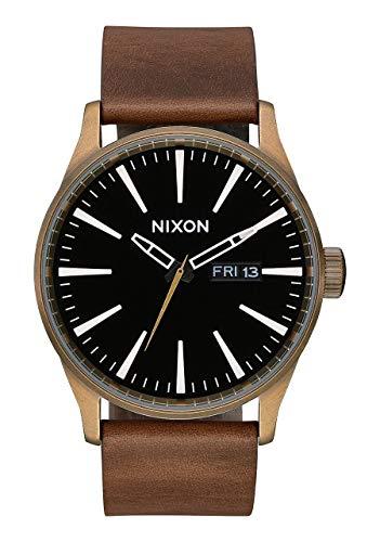 Nixon Unisex Adult Analogue Quartz Watch with Leather Strap A105-3053-00