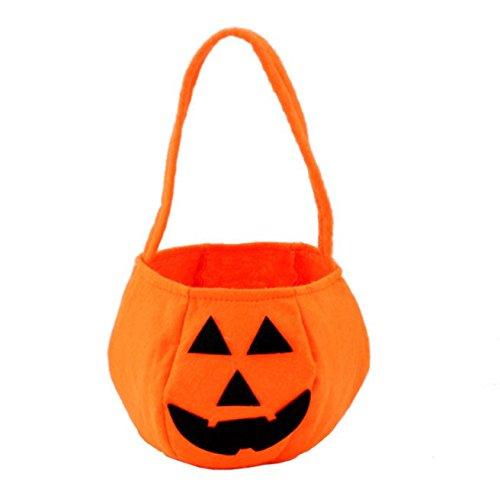 Webest Halloween-Korb-Tasche Kürbis-Beutel/Kind-Süßigkeits-Taschen-Kürbis-Taschen-Süßigkeits-Korb