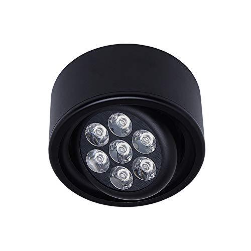 Modenny 7 watt cob led aufbau Downlight Decke integrierte Spot licht runde schwarz Panel Mount akzent Lampe für Flur Galerie Bild Display küche Wohnzimmer dekor Beleuchtung -