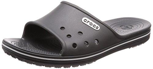 crocs Crocband 2 Slide, Unisex - Erwachsene Badeschuhe, Grau (Slate Grey/White), 45/46 EU