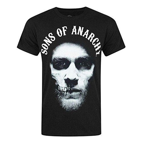 Sons of Anarchy Offizielles Herren Jax Teller T-Shirt (S) (Schwarz) (Sons Anarchy Kleidung Of Jax)