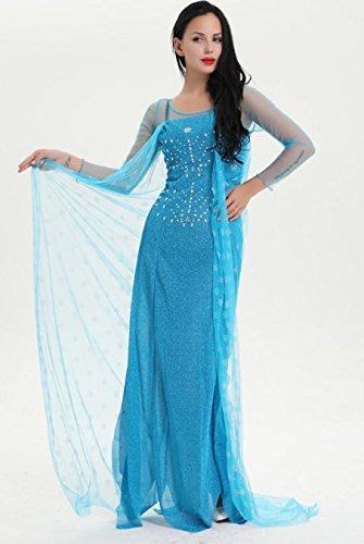 Damen Kostüm Eiskönigin Frozen Elsa - Modell 2, Größe:S (Für Kleid Frozen Erwachsene)