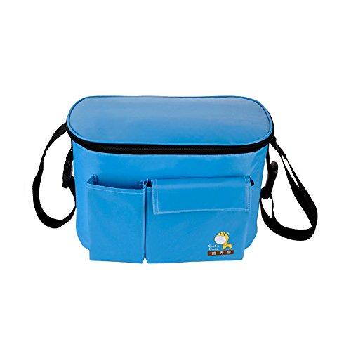Yimidear Wasserdicht Windeltasche Wickeltasche Rucksäck Kindewagen Handetasche Blau