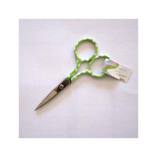 Forbici di ricamo cucito punto croce a pois 9cm-Verde