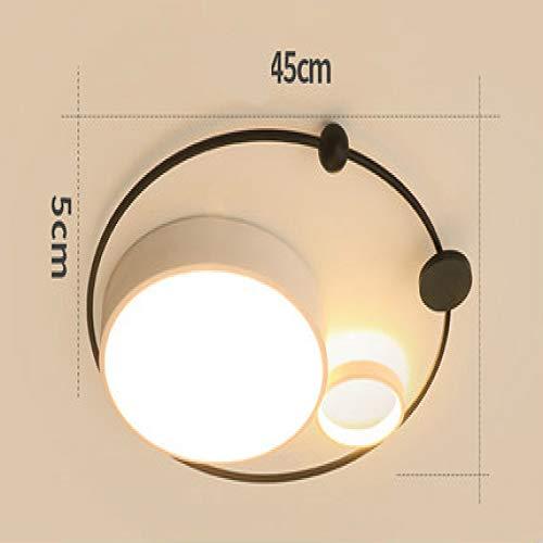 WSYYWD Nueva ronda moderna lámpara de techo led sala de estar dormitorio lámpara de estudio iluminación del hogar