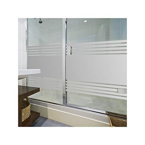 LAVICOM Sichtschutzfolie von ORAFOL® Dusche Sauna Schwimmbad Duschkabine Bad WC Badezimmer Streifendesign Glasdekorfolie (Fenster Sauna)