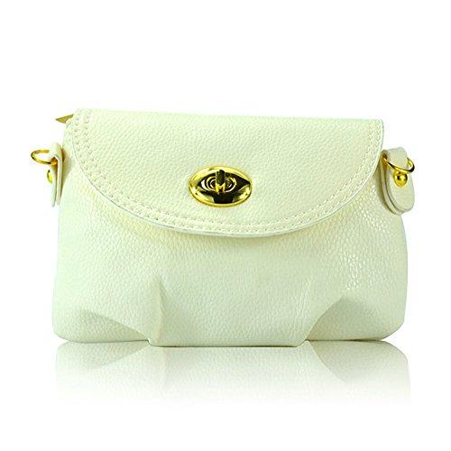 Hrph Neue Art und Weise der Frauen nette Mappen Umhängetasche Retro Kleine Taschen Solide PU-Leder Tasche #5