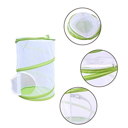 tenkfig Giant Butterfly Garten Folded Butterfly Cage Cage Anti-Mosquito Net Plant Cultivation Treibhaus-Futtermittel PVC ()