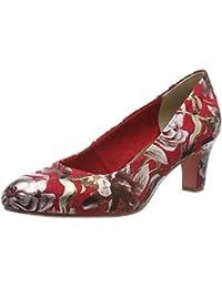 Amazon.es  Rojo - Zapatos de tacón   Zapatos para mujer  Zapatos y ... afcd72fd1468