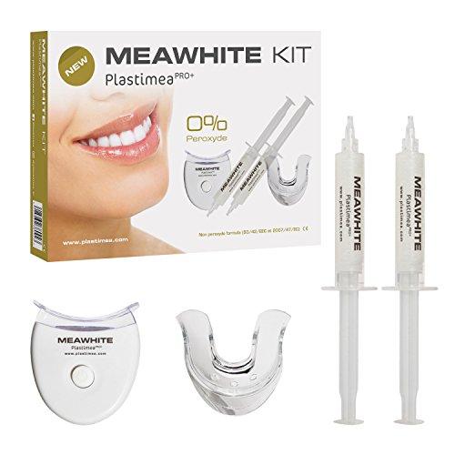 Zahnaufhellung Bleaching Set ☆ MEAWHITE für weiße Zähne ☆ Zähne bleichen OHNE PEROXID • schont den Zahn! Professionelles Zahnbleaching Kit für zuhause • Schmerzfrei & ohne Nebenwirkungen