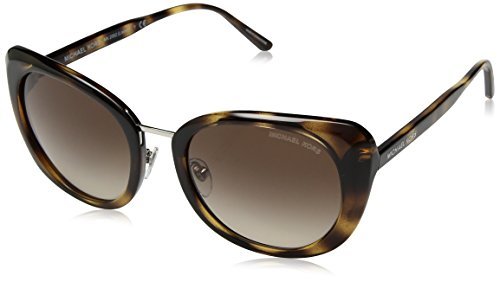 Michael Kors Damen LISBON 328513 52 Sonnenbrille, Dark Tortoise/Smokegradient