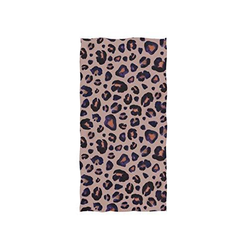 Schöne Leopardenmuster Weiche Spa Strand Badetuch Fingerspitze Handtuch Waschlappen Für Baby Erwachsene Bad Strand Dusche Wrap Hotel Travel Gym Sport 30x15 Zoll