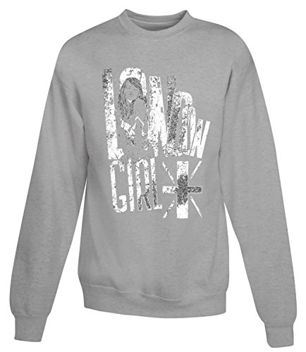 Billion Group | Painted Girl From London | City Collection | Women's Unisex Sweatshirt Grigio Small