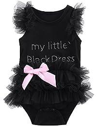 MIOIM® Niños Niñas de Encaje Tulle Ruffles Bow Bodysuit Romper Trajes Jumpsuit