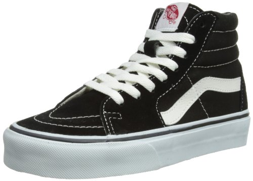 Vans Sk8-Hi, Sneakers Unisex Adulto, Nero (Black/White), 37 EU