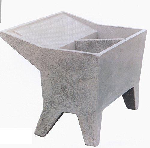 Preisvergleich Produktbild Waschbrett Waschküche 120 x 85 x 77H doppelte Schale grau nicht.