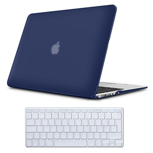 Case MacBook Air 13 Hülle Navy Blau ,iCasso Reines Farbe design Ultra Slim Dünn Kratzfeste Matt Rutschfest Hartschale Kunststoff Schutzhülle Snap Case für MacBook Air 13 Zoll (Modell: A1369 / A1466) (Macbook Air Case Blau)
