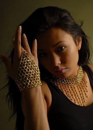 d Perlen Finger Handschuh ()
