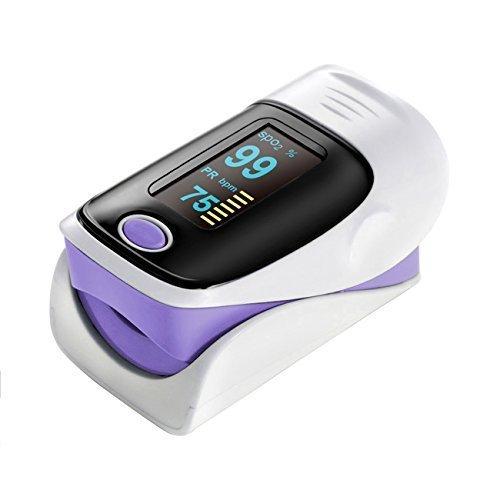 Sora H® Pulse Fingerpulsmessgerät Oximeter und Herzfrequenz Monitor–Beste Genauigkeit–Gutes Design–Farbe: Violett