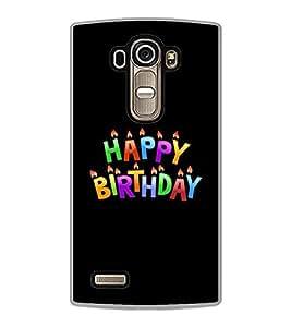 PrintVisa Designer Back Case Cover for LG G4 :: LG G4 Dual LTE :: LG G4 H818P H818N :: LG G4 H815 H815TR H815T H815P H812 H810 H811 LS991 VS986 US991 (Happy Birthday Candles Multicolour Black)