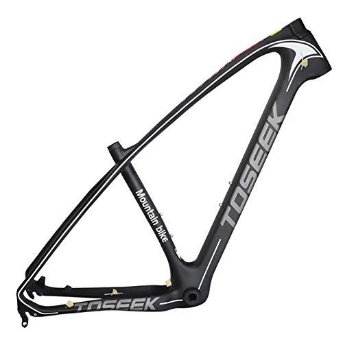 SXMXO Fahrradrahmen Kohlefaser leichtes Bike MTB-Rahmen 29er 15/17/19 BSA Tapered Mountainbike-Rahmen Steckachse,29 * 19inch -