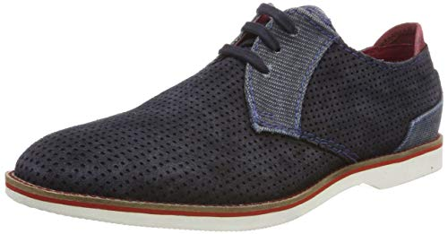 bugatti Herren 311671011469 Derbys, Blau (Dark Blue/ Light Blue 4142), 44 EU