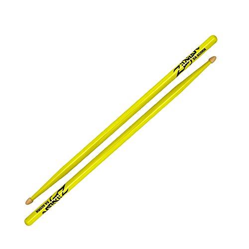 ZILDJIAN 5acwdgy Eichel Holz Neon Drumsticks-Gelb