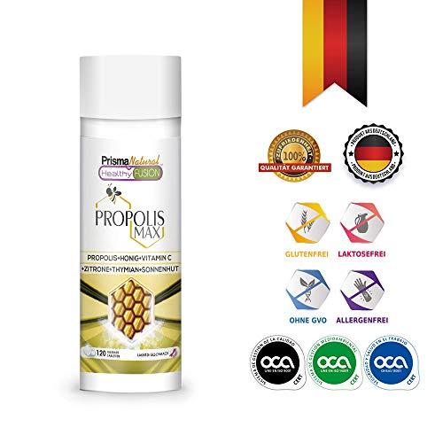 REINES PROPOLIS - Reines Propolis + Honig + Vitamin C + Thymian + Echinacea - Schützt die Abwehrkräfte - Starkes natürliches Antibiotikum, Antibakterium, Entzündungshemmend - 120 Einheiten. -