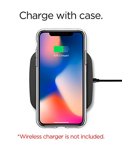 Funda iPhone X  Spigen® [Ultra Hybrid] Tecnología de cojín de aire y protección híbrida de la gota para iPhone X (2017) [Transparente]