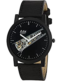 Relish RE-S8132BB Black Slim Analog Watches For Men's And Boy's