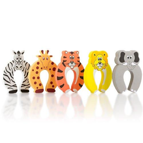 SmileBaby bloque porte butoir de porte anti-pincement protège doigts safari lot de 5 piéces